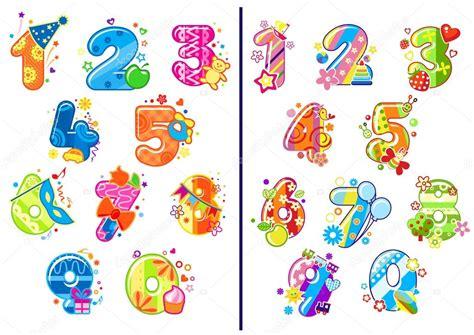 imagenes infantiles numeros dibujos animados infantiles n 250 meros y d 237 gitos vector de