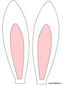 easter rabbit ears coloring page