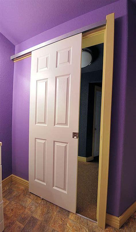 pocket door      wall bathroom pinterest track hardware  pocket doors
