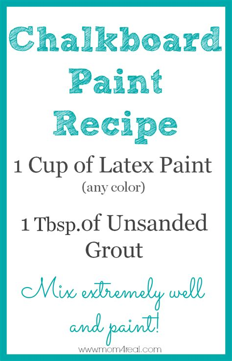 Make Your Own Chalkboard Paint In Any Color 4 Real