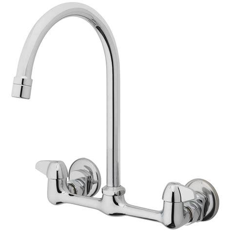 Chrome Gooseneck Kitchen Faucet Homewerks Worldwide 2 Handle Standard Kitchen Faucet With