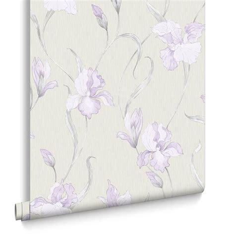 wallpaper grey and lilac iris grey and lilac wallpaper grahambrownuk
