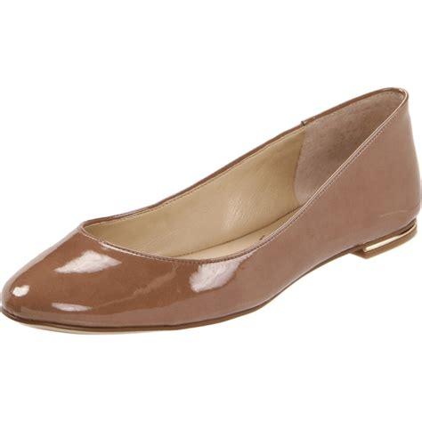 Flat Shoes Nine West Brown nine west onhigh ballet flat in brown light brown patent