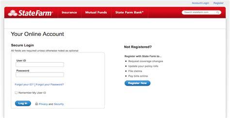 state farm login statefarmcom  account