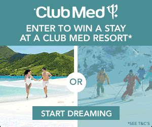 Free All Inclusive Vacation Giveaways - enter to win a club med all inclusive vacation