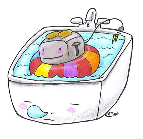 Toaster In Bathtub by Toaster Tub By Mie Tanuki On Deviantart