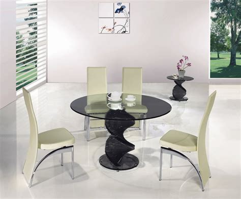 Swirl Glass Dining Table Twirl Black Glass Dining Table