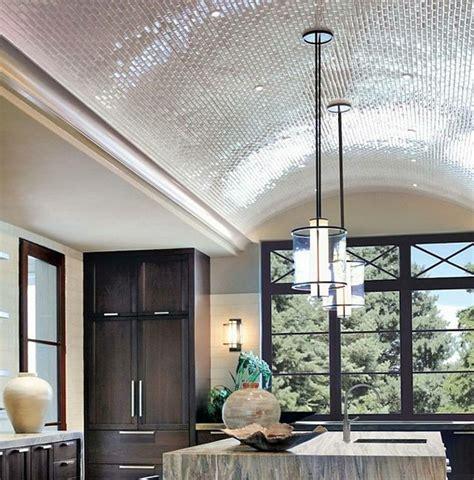 Vaulted Ceiling Acoustics Tiled Barrel Ceiling In Kitchen Tile