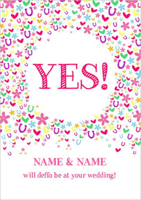 acceptance card template wedding rsvp cards funky pigeon
