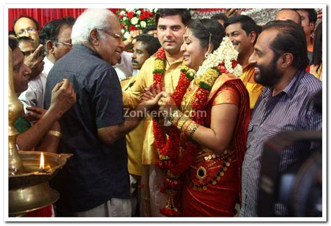 Thilakan With Navya And Santhosh   Malayalam Movie Event