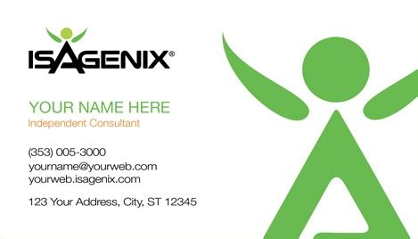Isagenix Business Card Template by Isagenix Business Card Design 3