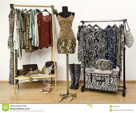 jungle pattern clothes colorful wardrobe with jungle pattern clothes and