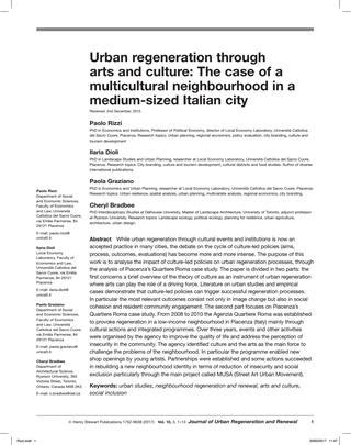 Political Economy Of City Branding regeneration through arts and culture by blacklemon