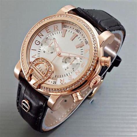 jam tangan aigner bari hitam ag001 jam