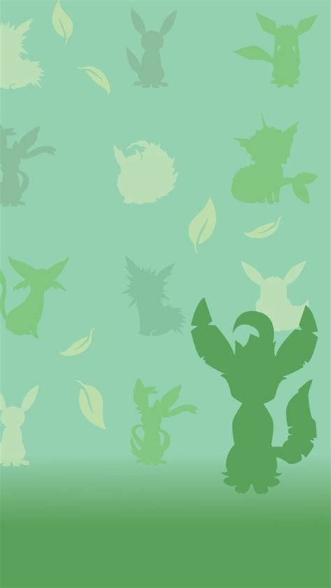 wallpaper iphone rare leafeon tap for more pokemon pattern wallpapers for