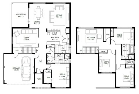 Raumaufteilung Haus by 2 Floor House Plans And This 5 Bedroom Floor Plans 2 Story