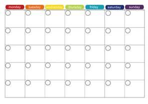 monthly food calendar template monthly menu plan printable picklebums
