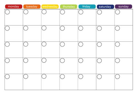 monthly snack calendar template monthly menu plan printable picklebums
