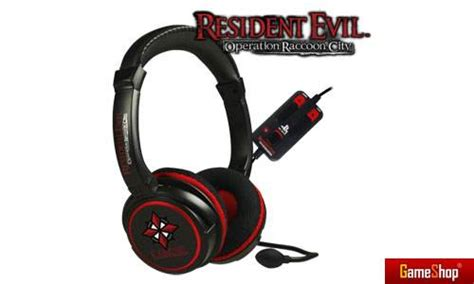 Limited Edition Headset Bando Sony Bass playstation resident evil operation raccoon city headset