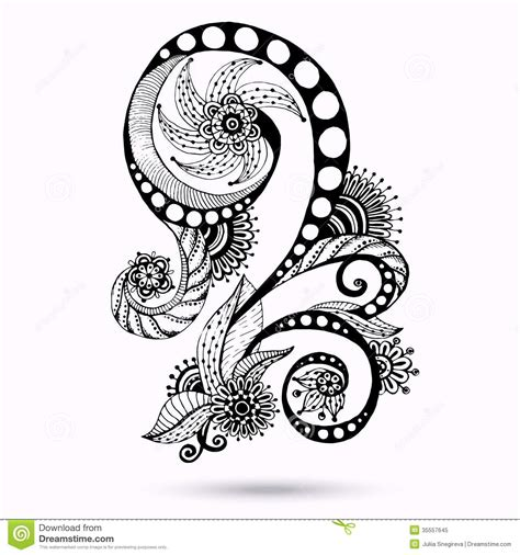 black and white henna pattern top paisley vector related images for pinterest tattoos