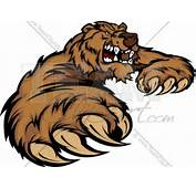 Grizzly Bear Mascot Body With Paws And Claws  Team Clipart Com