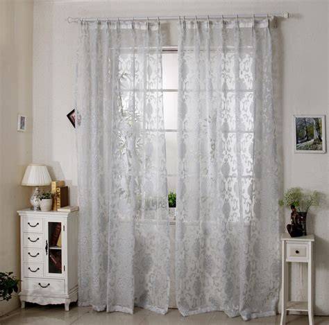 window curtains with hooks curtains bedroom living room jacquard voile french window
