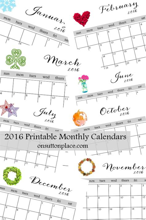 month at a glance calendar template 2016 printable monthly calendar printable monthly