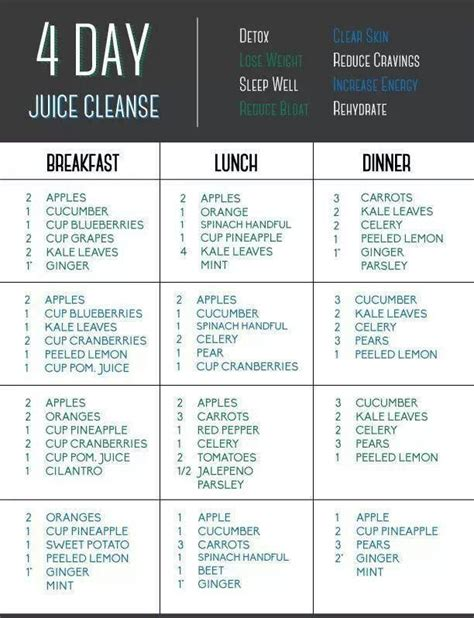 Detox Juices Diet Plan by Detox Cleanse Drinks