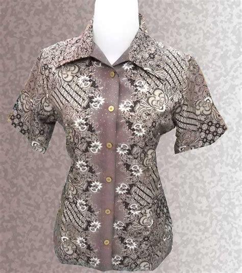 Dress Batik Wanita Ungu baju batik baju batik wanita lpendek warna ungu mirror tetanaman safari sarimbit available