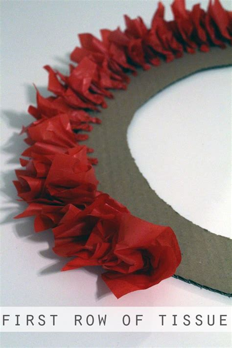 How To Make A Tissue Paper Wreath - 25 unique tissue paper wreaths ideas on