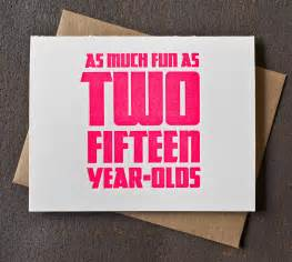 thirty birthday cards 30th birthday card neon pink as two fifteen year olds