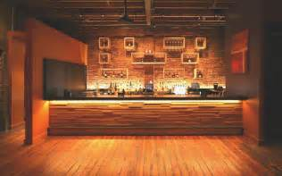 bar wood slat wall panels projecting rail style