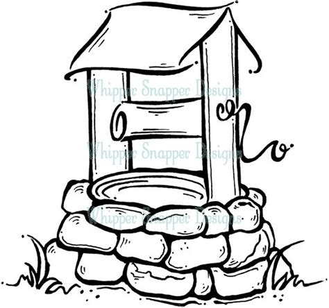 coloring page water well 37 best images about wishing well on pinterest coins