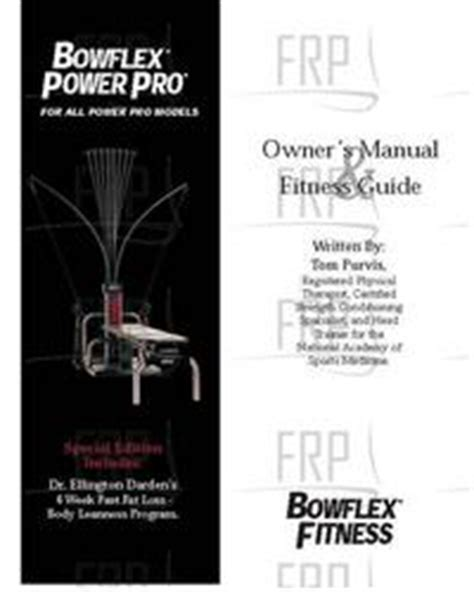 manual owners bowflex power pro fitness and exercise