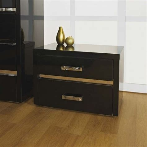 black mirrored glass high gloss bedside table cabinet 3 alessia bedside table in high gloss black a stunning