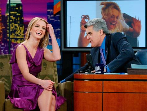 Jay leno with britney spears 2002 photos the tonight show with