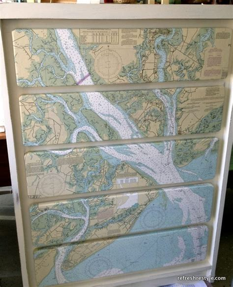 How To Modge Podge A Dresser by Mod Podge Map Dresser Refresh Restyle