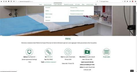 laboratorio analisi san giorgio pavia salute creazione sito web aziendale per un