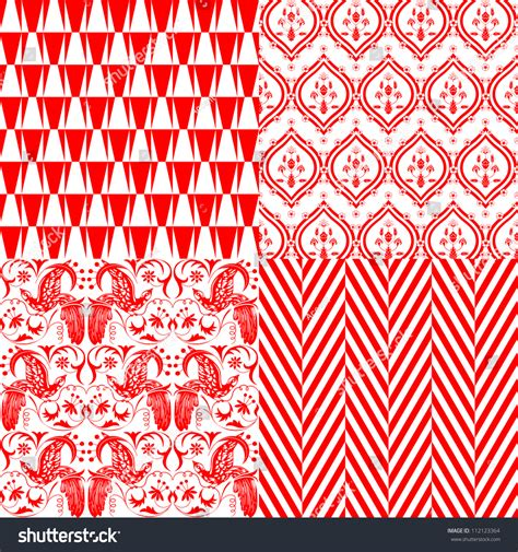 repeating pattern en français red and white repeating patterns stock vector illustration