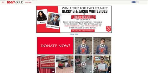 Teen Vogue Sweepstakes - teen vogue salvation army redkettlereason social sweepstakes