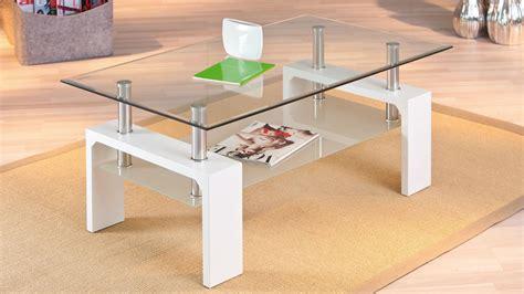 couchtisch alva glastisch wohnzimmer tisch in wei 223 und glas