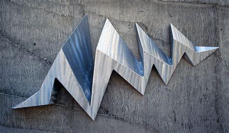 wall sculptures metal modern linear deviation 8 modern abstract wall sculpture by