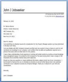sample property manager resume cover letter regional manager ...
