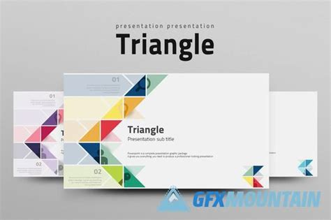 free template company profile design presentation templates gfx triangle powerpoint