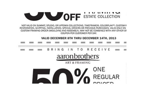 aaron brothers printable coupon 2018