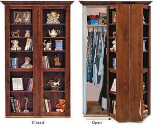 awesome murphy door bookcase that hides closet laundry