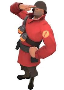 When Was Minecraft Made tf2 red soldier salut render by createvi on deviantart