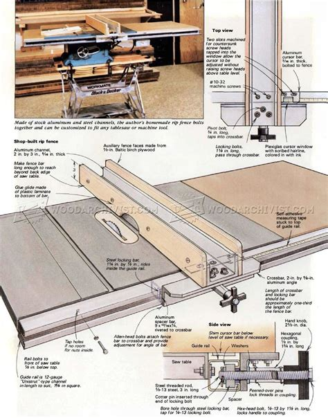 how a table saw diy table saw fence woodarchivist