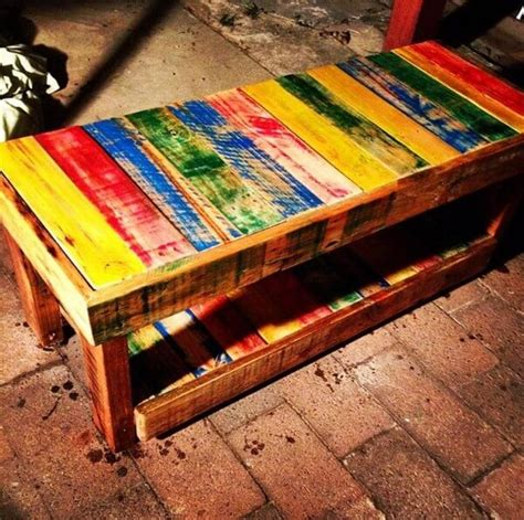 colorful coffee tables colorful diy pallet coffee tables designs pallets designs