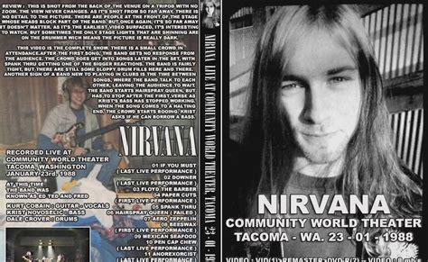 Kaos Classic Rock Band Nirvana 1988 banca do rock rock concert dvd 1148 dvd nirvana 1988 bootleg